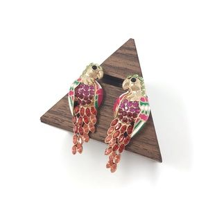 J.Crew Gemstones Parrot Earrings